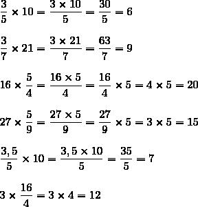 deux exercices sur les fractions sixieme